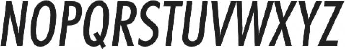 Futura Cond Medium Oblique otf (500) Font UPPERCASE