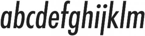 Futura Cond Medium Oblique otf (500) Font LOWERCASE