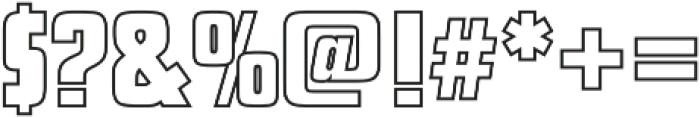 Futura Display Outline P Regular otf (400) Font OTHER CHARS