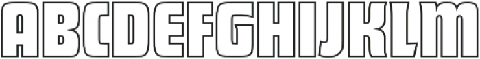 Futura Display Outline P Regular otf (400) Font UPPERCASE