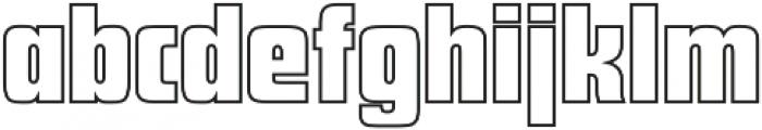 Futura Display Outline P Regular otf (400) Font LOWERCASE