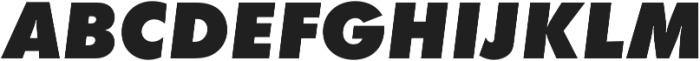 Futura Extra Bold Oblique otf (700) Font UPPERCASE