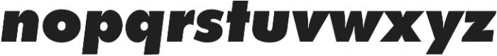 Futura Extra Bold Oblique otf (700) Font LOWERCASE