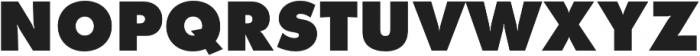 Futura Extra Bold otf (700) Font UPPERCASE