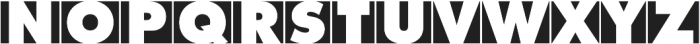 Futura Initials D Extra Bold otf (700) Font UPPERCASE