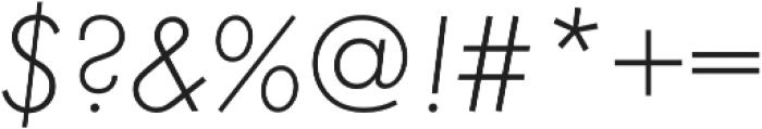 Futura Light Oblique otf (300) Font OTHER CHARS