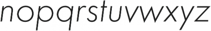 Futura Light Oblique otf (300) Font LOWERCASE