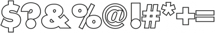 Futura Outline P Extra Bold otf (700) Font OTHER CHARS