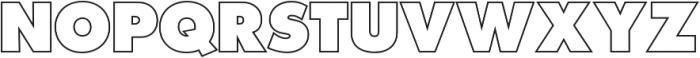 Futura Outline P Extra Bold otf (700) Font UPPERCASE