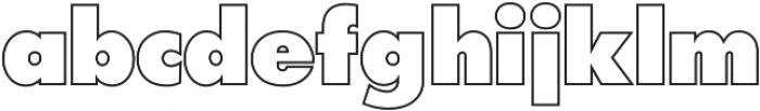 Futura Outline P Extra Bold otf (700) Font LOWERCASE