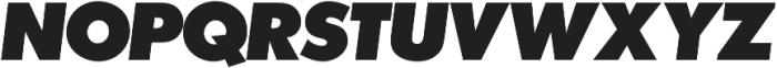 Futura P Extra Bold Oblique otf (700) Font UPPERCASE