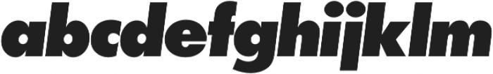 Futura P Extra Bold Oblique otf (700) Font LOWERCASE