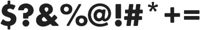 Futura Round Bold otf (700) Font OTHER CHARS