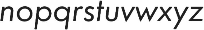Futura Round Book Oblique otf (400) Font LOWERCASE