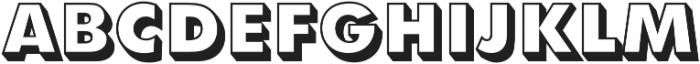 Futura Shadowed D Extra Bold otf (700) Font UPPERCASE