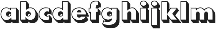 Futura Shadowed D Extra Bold otf (700) Font LOWERCASE