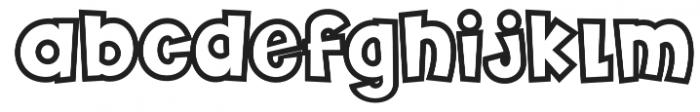 Futurino Outline Bold otf (700) Font LOWERCASE