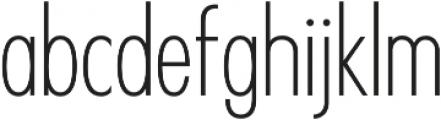 Futuriste Light otf (300) Font LOWERCASE