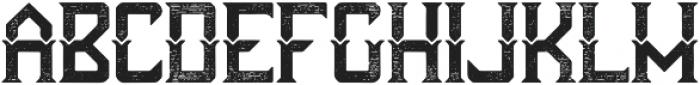 Futuristic Aged otf (400) Font UPPERCASE
