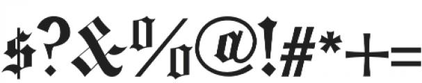 fullerton otf (400) Font OTHER CHARS