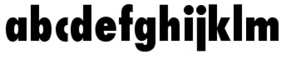Futura Condensed Extra Bold Font LOWERCASE