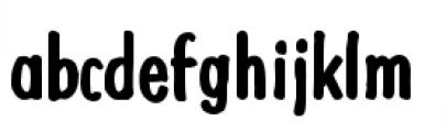 Futuramano Condensed Bold Font LOWERCASE