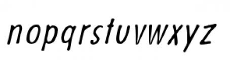 Futuramano Condensed Light Italic Font LOWERCASE