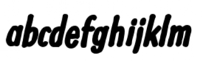 Futuramano Condensed Xe Bold Italic Font LOWERCASE