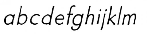 Futuramano Thin Italic Font LOWERCASE
