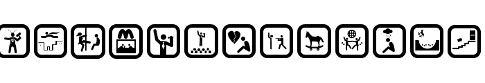 FUNNY ICON Font UPPERCASE