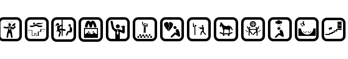 FUNNY ICON Font LOWERCASE