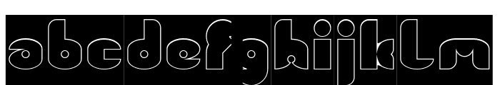 FUNNY SPORT-Hollow-Inverse Font LOWERCASE