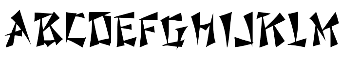 Fu Manchu Font UPPERCASE