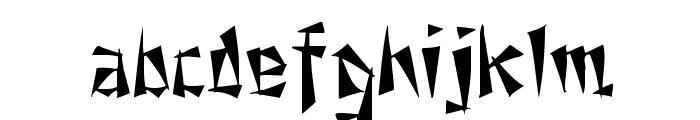 Fu Manchu Font LOWERCASE