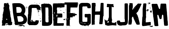 Fucked Plate Font LOWERCASE