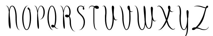 Fude Font UPPERCASE