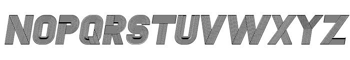 Fudged Italic Font UPPERCASE