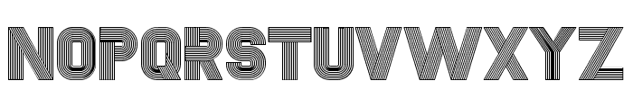 Fudged Regular Font UPPERCASE