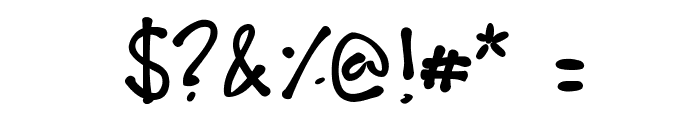 Fudgie Font OTHER CHARS