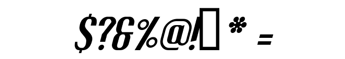 Fuel Italic Font OTHER CHARS