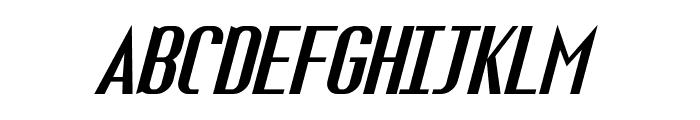 Fuel Italic Font UPPERCASE