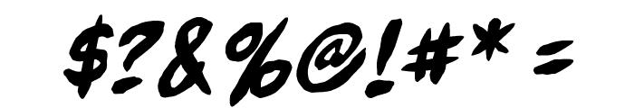 FullBleedBB-Italic Font OTHER CHARS