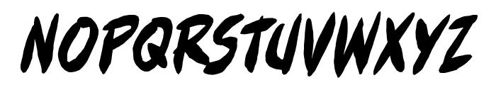 FullBleedBB-Italic Font UPPERCASE