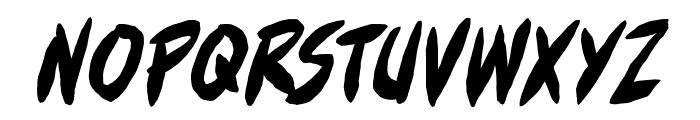 FullBleedBB-Italic Font LOWERCASE