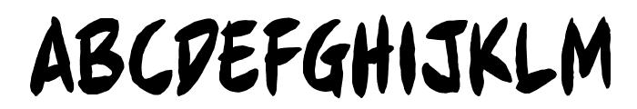 FullBleedBB Font UPPERCASE