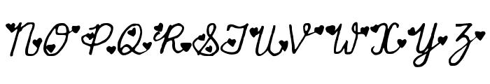 FullofHearts Font UPPERCASE