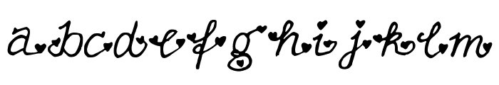 FullofHearts Font LOWERCASE