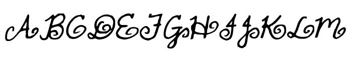 FullofSwirls Font UPPERCASE