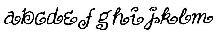 FullofSwirls Font LOWERCASE