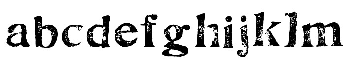 FultonMarkersLight Font LOWERCASE